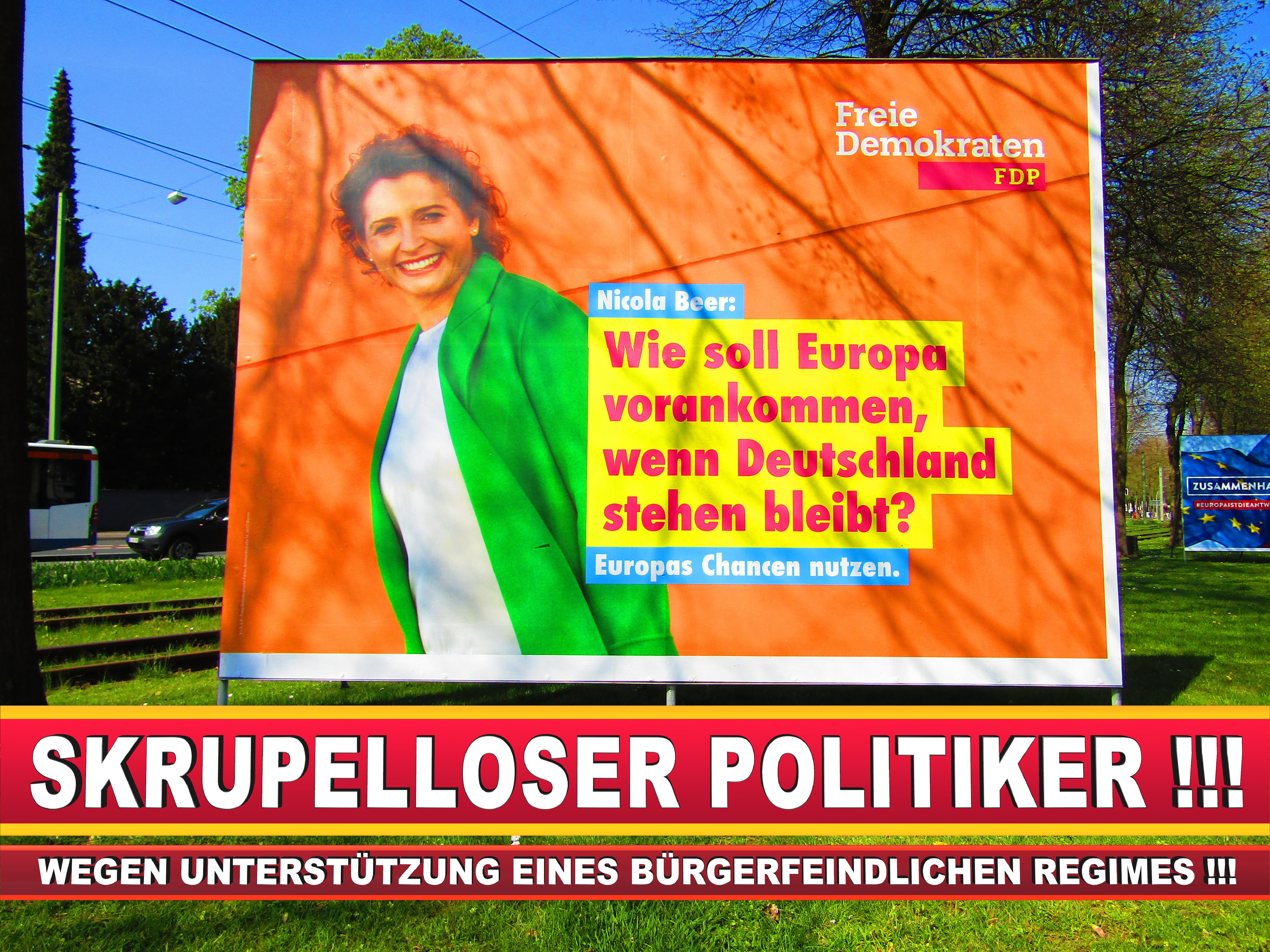 Europawahl Deutschland Wahlplakate CDU SPD FDP Grüne Linke AfD (37)