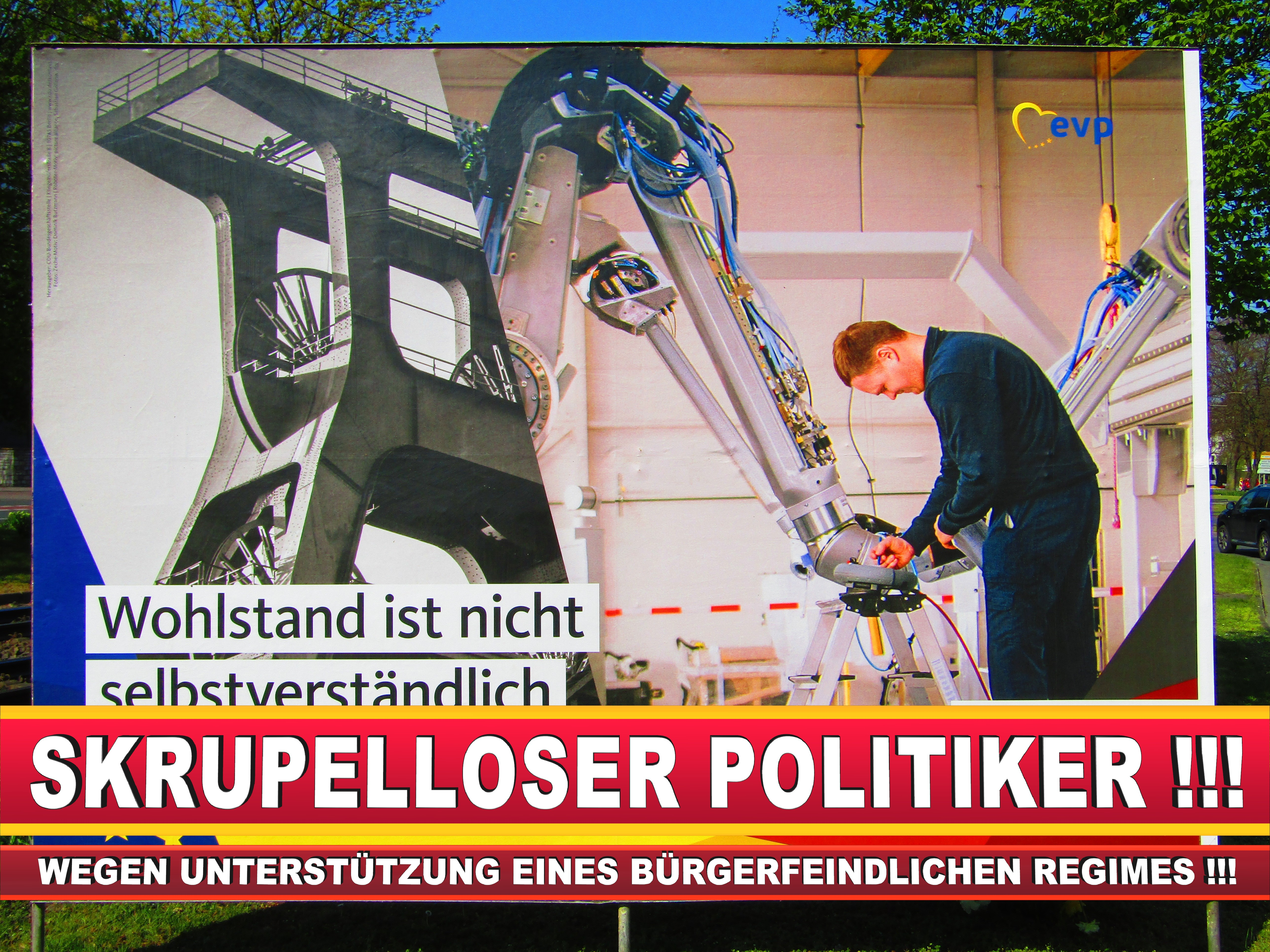Europawahl Deutschland Wahlplakate CDU SPD FDP Grüne Linke AfD (74)