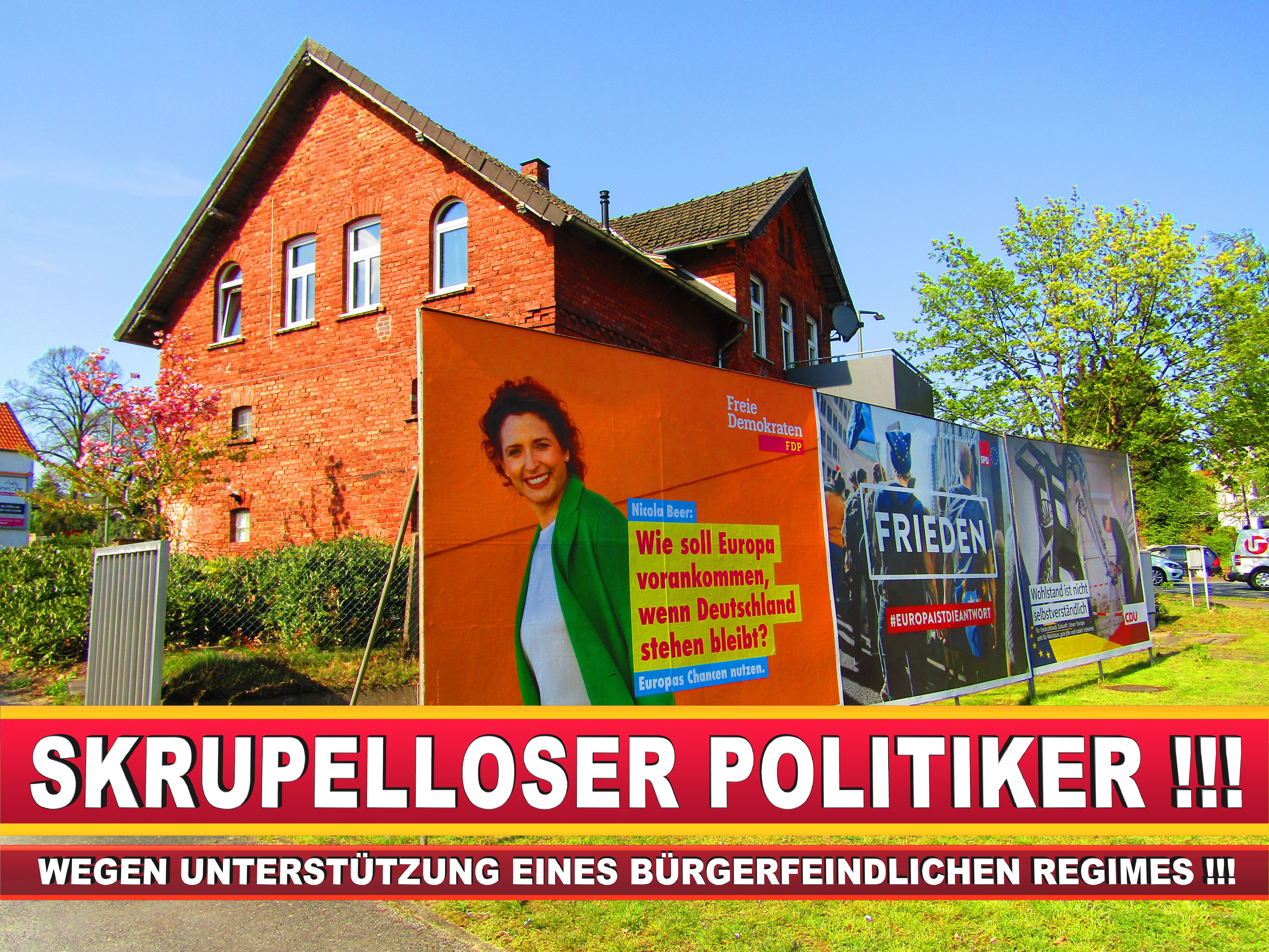 Europawahl Deutschland Wahlplakate CDU SPD FDP Grüne Linke AfD (82)