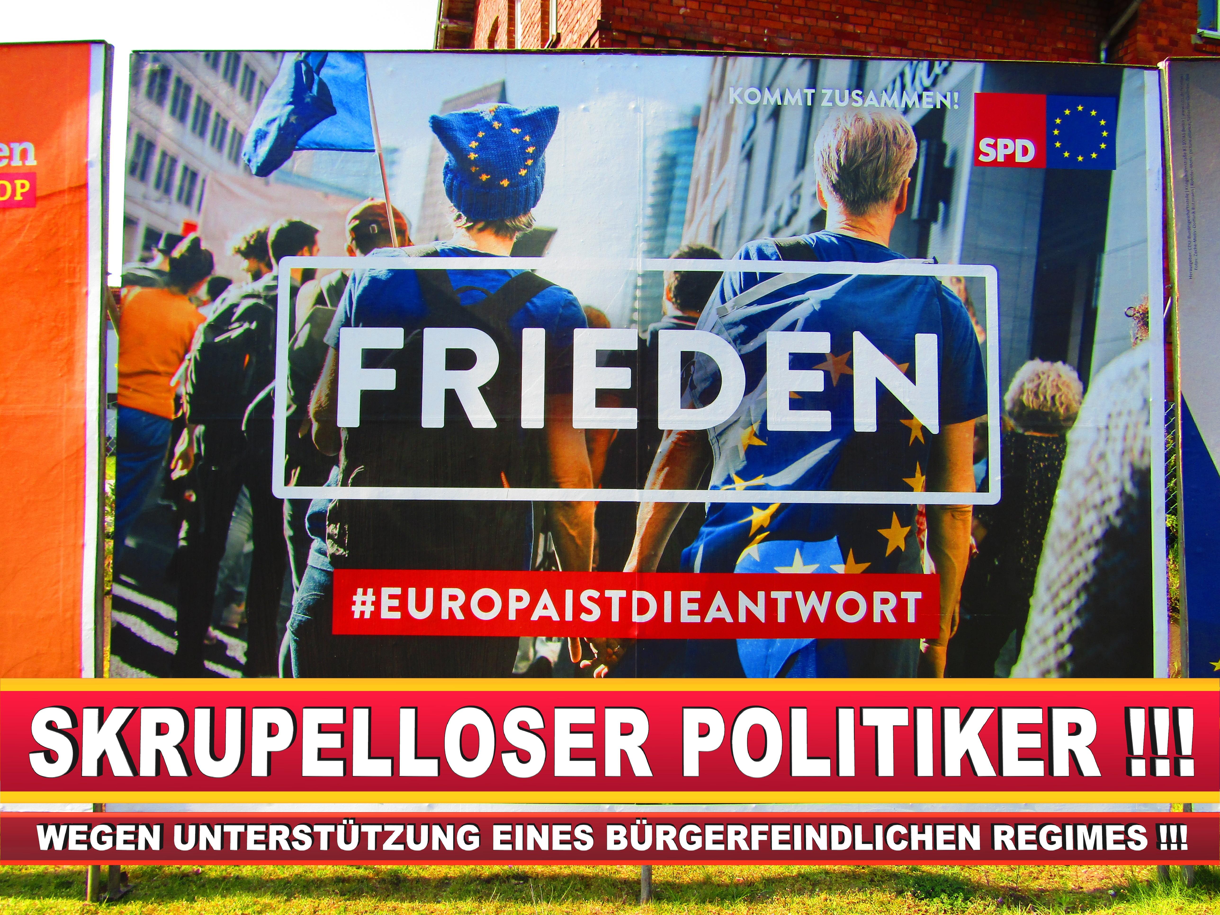 Europawahl Deutschland Wahlplakate CDU SPD FDP Grüne Linke AfD (89)