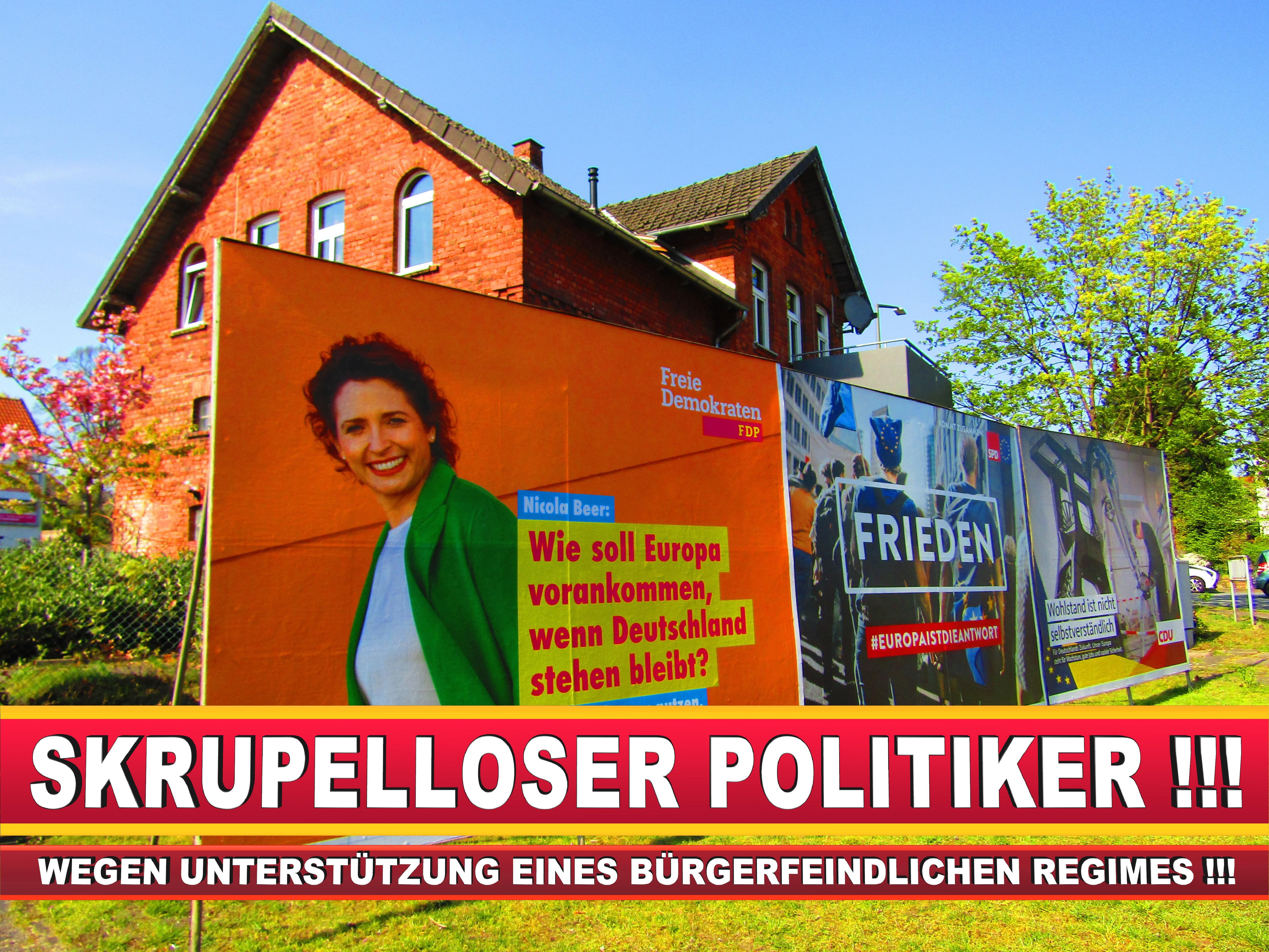 Europawahl Deutschland Wahlplakate CDU SPD FDP Grüne Linke AfD (94)