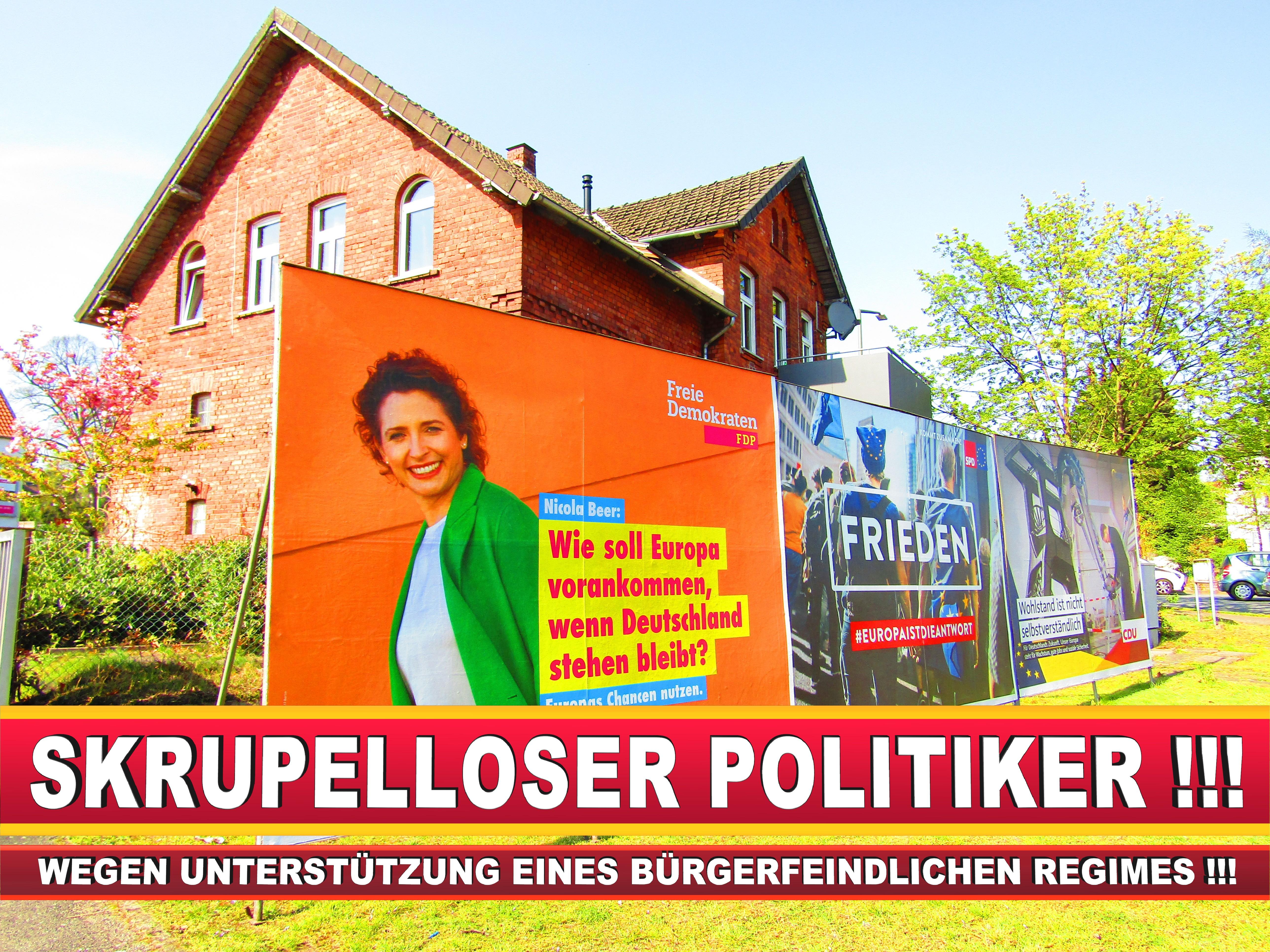 Europawahl Deutschland Wahlplakate CDU SPD FDP Grüne Linke AfD (95)