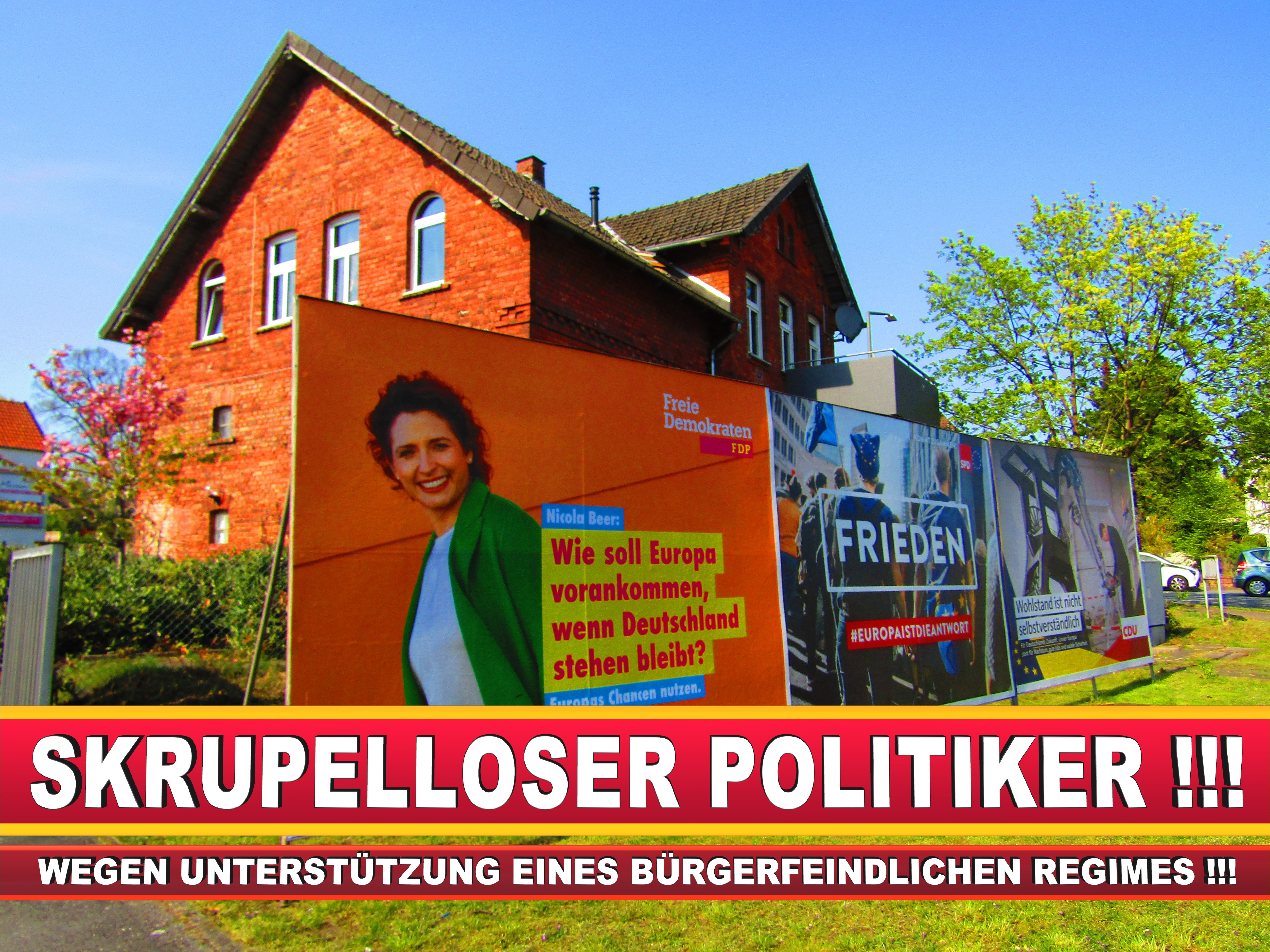 Europawahl Deutschland Wahlplakate CDU SPD FDP Grüne Linke AfD (96)